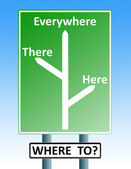 Where to roadsign — Stock Photo