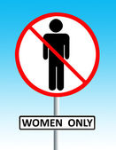 Women only sign — Stock Photo