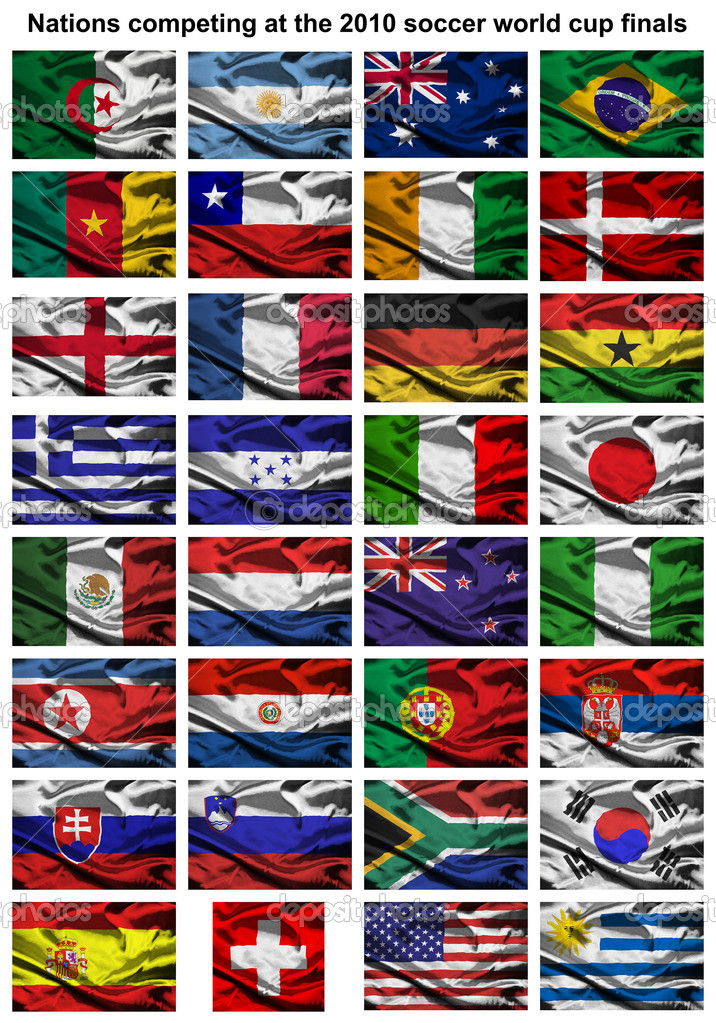 2010 world cup fabric flags — Stock Photo © Tonygers #2251942