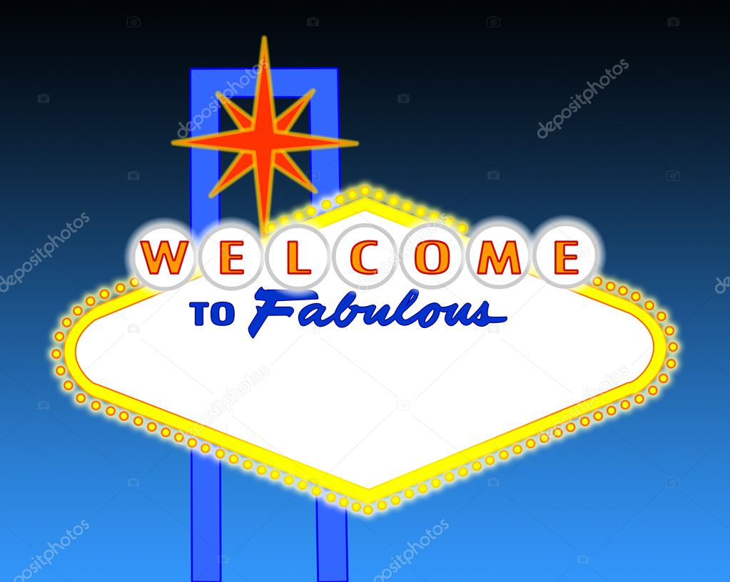 Illustration of the neon illuminated Las Vegas sign left blank for your text — Stock Photo #2252290