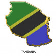 Tanzania metal pin badge — Stock Photo