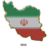 Iran metal pin badge — Stock Photo