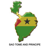Sao Tome and Principe metal pin badge — Stock Photo