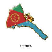 Eritre metal pin badge — Stok fotoğraf