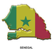 Senegal metal pin badge — Stock Photo