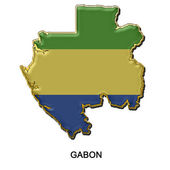 Gabon metal pin badge — Stock Photo