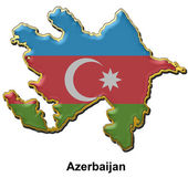 Badge broche métallique azerbaïdjan — Photo