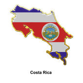 Costa Rica metal pin badge — Stock Photo
