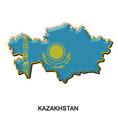 Kazakhstan metal pin badge — Stock Photo