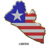Liberia metal pin badge — Stock Photo