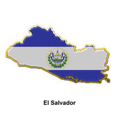 El Salvador metal pin badge — Stock Photo