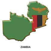 Zambia metal pin badge — Stock Photo