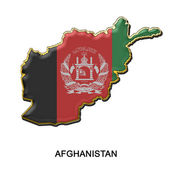 Afghanistan metal pin badge — Stock Photo