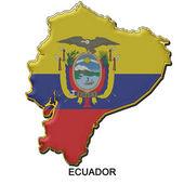 Ecuador metal pin badge — Stock Photo
