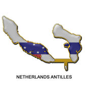 Netherland Antilles metal pin badge — Stock Photo