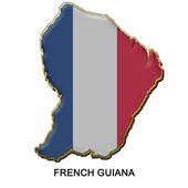 French Guiana metal pin badge — Stock Photo