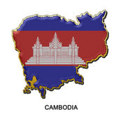 Cambodia metal pin badge — Stock Photo