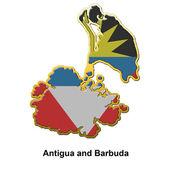 Antigua and Barbuda metal pin badge — Stock Photo