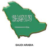 Saudi Arabia metal pin badge — Stock Photo