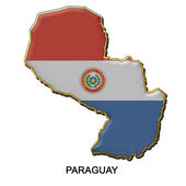 Paraguay metal pin badge — Stock Photo