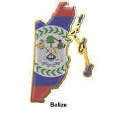 Belize metal pin badge — Stock Photo