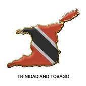 Trinidad and Tobago metal pin badge — Stock Photo