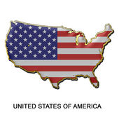 United States of America metal pin badge — Stock Photo