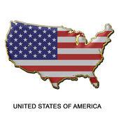 United States of America metal pin badge — Stock Photo