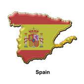 Spain metal pin badge — Stock Photo