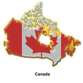 Canada metal pin badge — Stock Photo