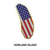 Howland Island metal pin badge — Stock Photo