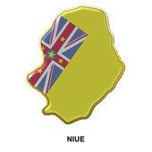 Niue metal pin badge — Stock Photo