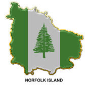 Norfolk Island metal pin badge — Stock Photo