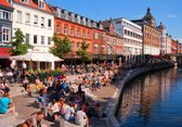Aarhus canal — Stock Photo
