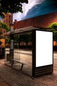 Aarhus bus stop HDR — Stock Photo
