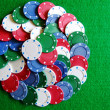 Pile of poker chips — Stock Photo