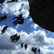 Stock Photo: Fairground ride silhouette 01