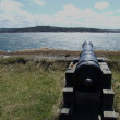Fortress cannon right — Stock fotografie
