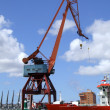 Stock Photo: Shipping industry crane 04