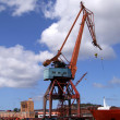 Stock Photo: Shipping industry crane 05