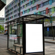 Stock Photo: Bus stop HDR 10