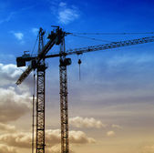 Construction cranes 04 — Stock Photo
