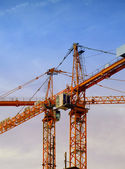 Construction cranes 02 — Stock Photo