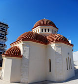Rethymnon red roofed church — Stock Photo