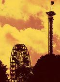 Fairground ride silhouette 03 — Stock Photo