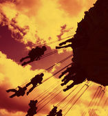 Fairground ride silhouette 04 — Stock Photo