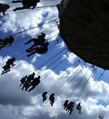 Fairground ride silhouette 01 — Stock Photo