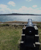 Fortress cannon right — Stock Photo