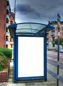 Otobüs durağı boş bilboard hdr 04 ile — Stok fotoğraf
