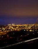Pollution de la ville lumières — Photo